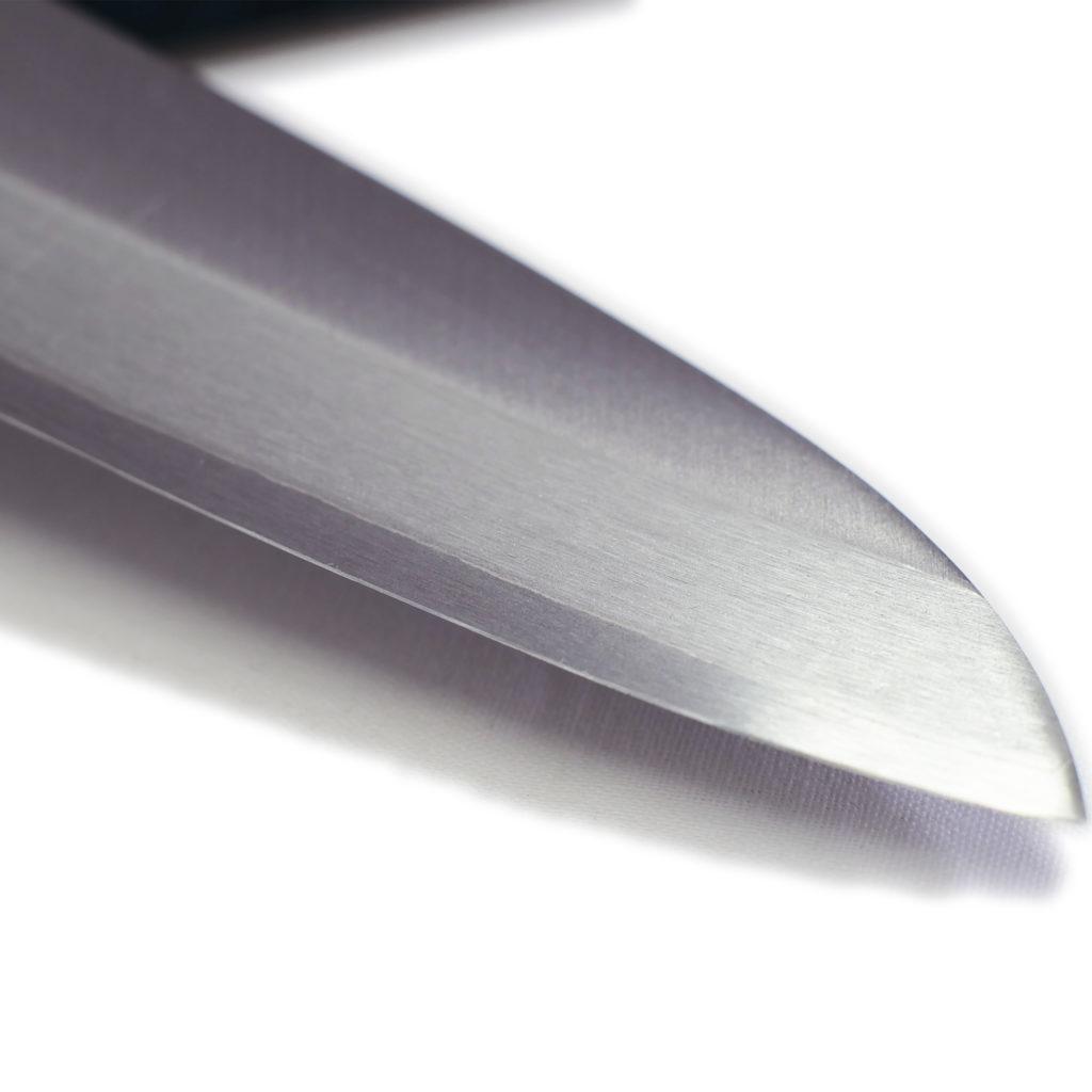 桜 堺石藤 青鋼 割込 牛刀 180mm 口金付き-4