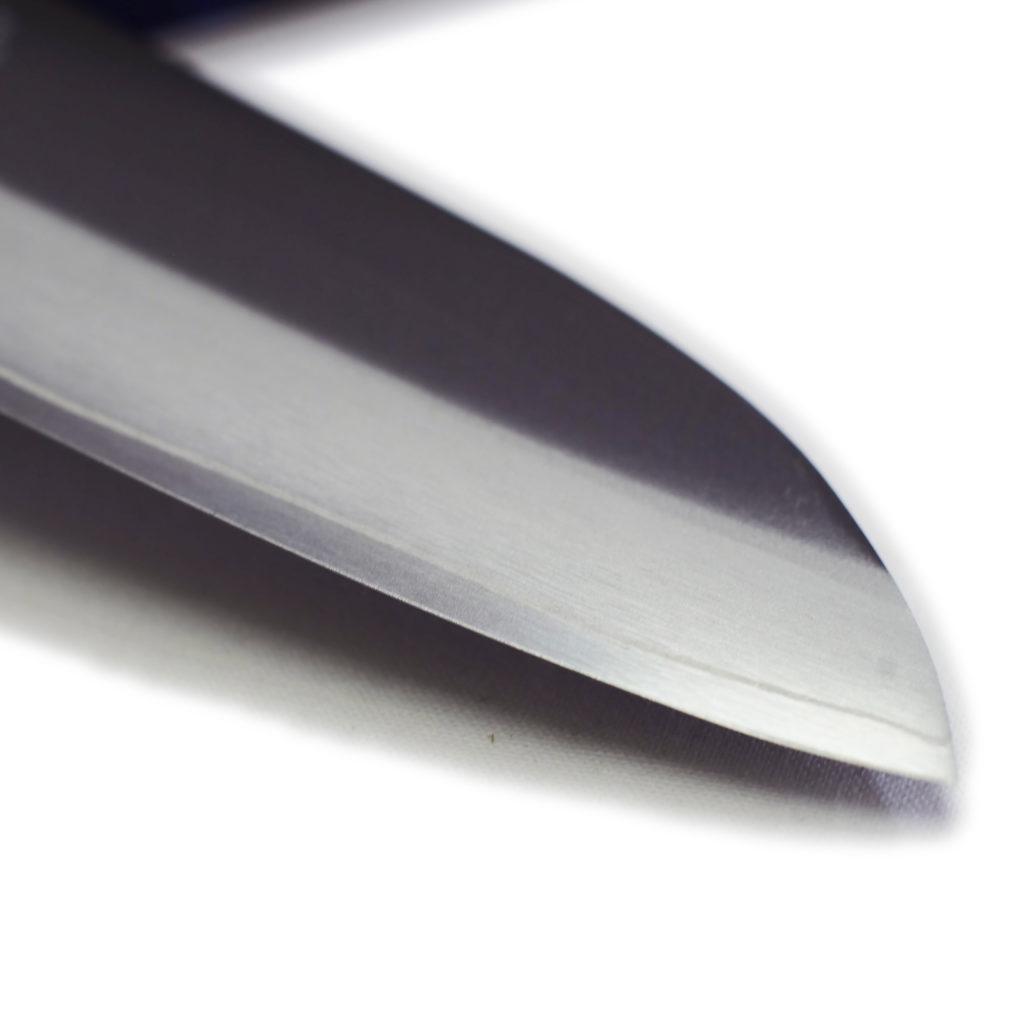 堺石藤 桜ゴールド 割込 三徳包丁 170mm 口金付き 包丁-4
