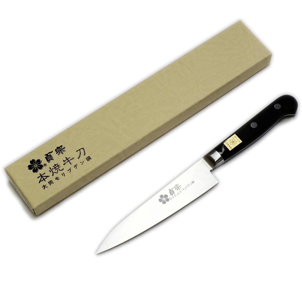 堺石藤 貞宗 ステンレス モリブデン鋼 ペティナイフ 120mm 本焼 包丁