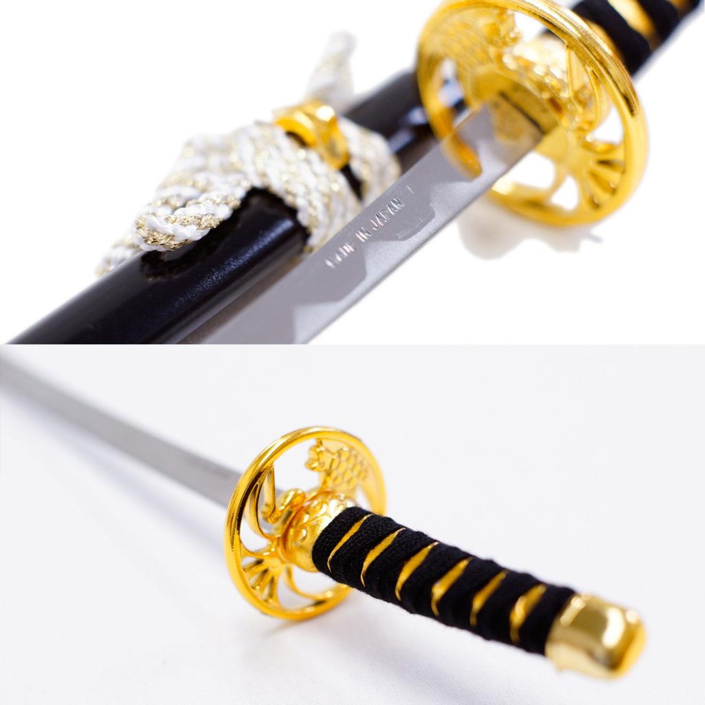 匠刀房 刀剣型ペーパーナイフ 黒大小揃え 掛台付-3