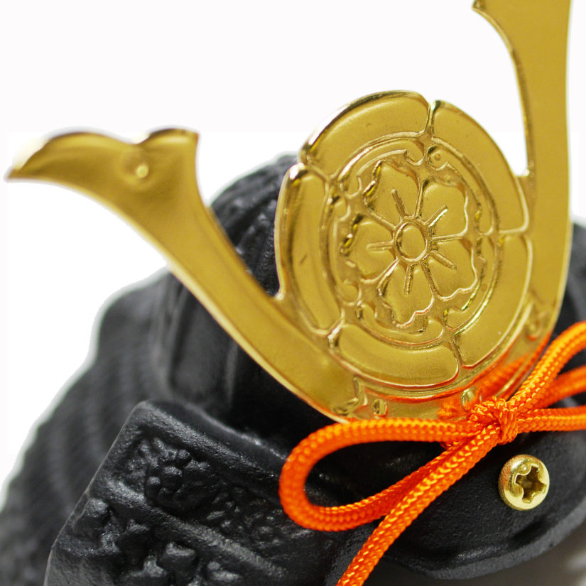 豆兜 織田信長 五月人形 座布団付き-  出世兜 伝統工芸 インテリア-2