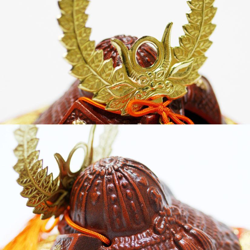 豆大兜 徳川家康 伝統工芸 座布団付き- 端午の節句 出世兜 インテリア-2