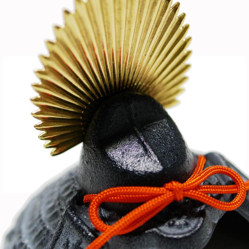 豆兜 太閤秀吉 伝統工芸 座布団付き- 端午の節句 出世兜 インテリア-1