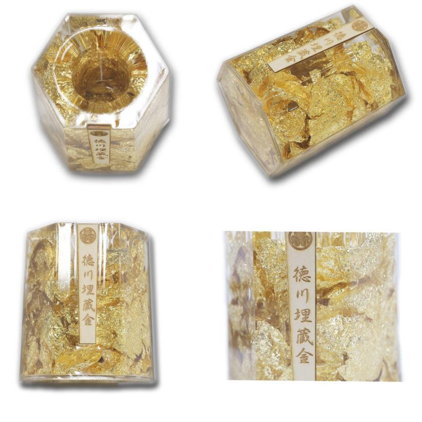 徳川埋蔵金 ゴールド金箔ペン立て - おみやげ-1