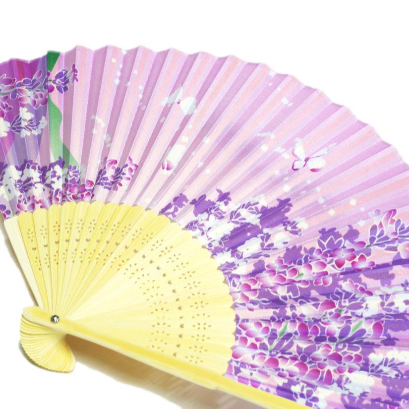 日本の美 彩り扇子 ラベンダー - おみやげ-2