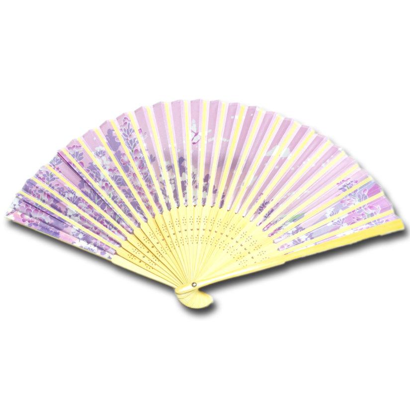 日本の美 彩り扇子 ラベンダー - おみやげ