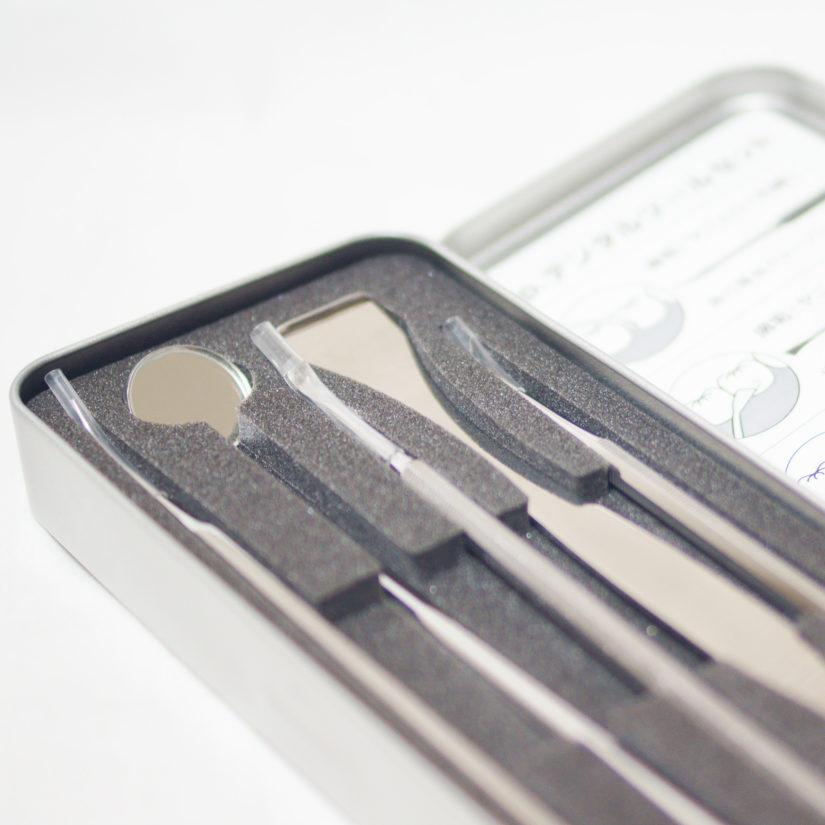 ファインクロス 5pc.デンタルツールセット エンボス手袋付き-4
