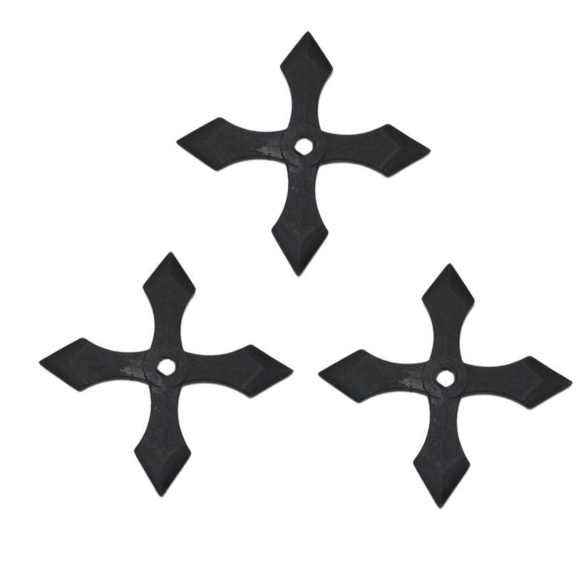匠刀房 ゴム手裏剣 十文字型 3枚セット-2