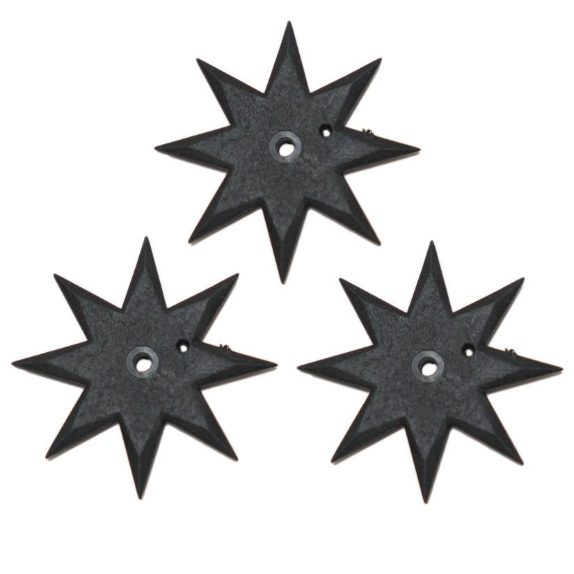 匠刀房 ゴム手裏剣 八方型 3枚セット-2