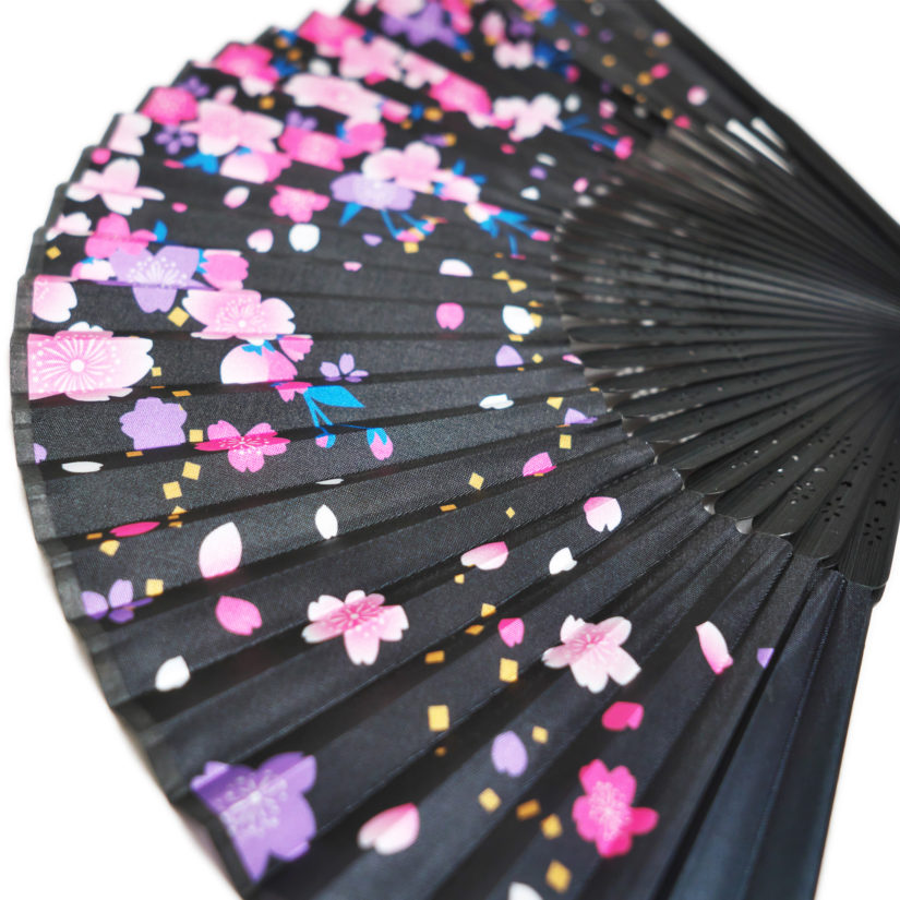 日本の美 彩り扇子 しだれ桜 - おみやげ-2