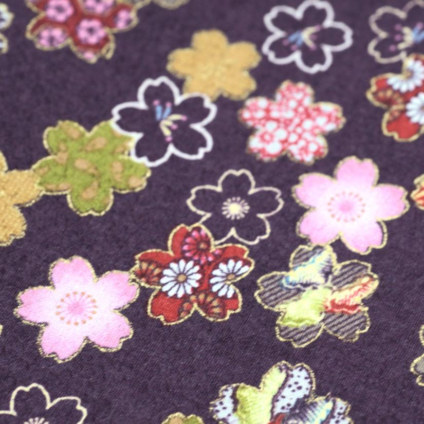 大判風呂敷 小紋桜 紫-2