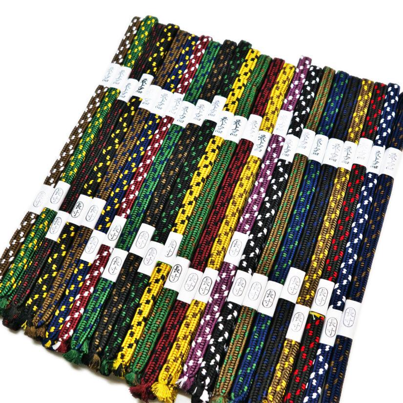 極上人絹 下緒 繁打ち 二色織り TKG-102 - 刀 模造刀 帯