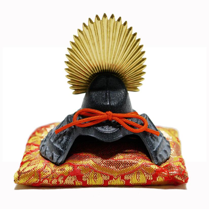 豆兜 太閤秀吉 伝統工芸 座布団付き- 端午の節句 出世兜 インテリア