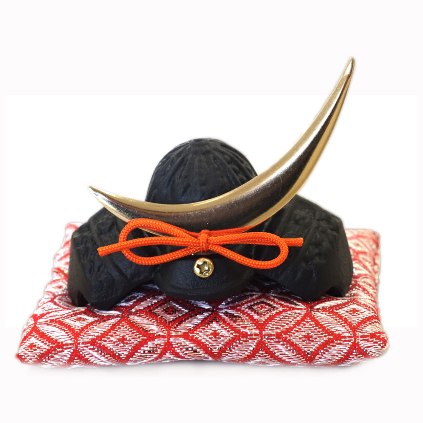 豆兜 伊達政宗 伝統工芸 座布団付き- 端午の節句 出世兜 インテリア