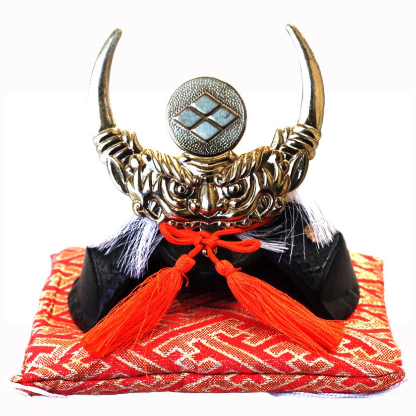 豆大兜 徳川家康 伝統工芸 座布団付き- 端午の節句 出世兜 インテリア